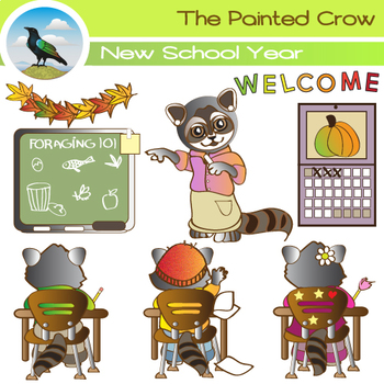 First Day of School - 9 piece Begining of the Year clipart set.