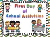 First Day of School Activities