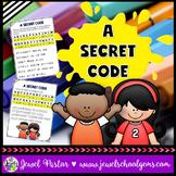 First Day of School Activities (Back to School Secret Code)