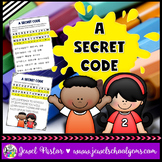 First Day of School Activities (Back to School Secret Code)