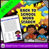 First Day of School Activities (Back to School Word Search 3rd, 4th, 5th Grade)