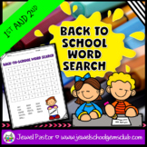 First Day of School Activities (Back to School Word Search)