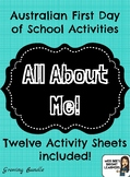 Back to School Activities/All About Me (Australian Version)