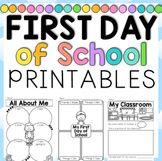 First Day of School Activities First and Second Grade
