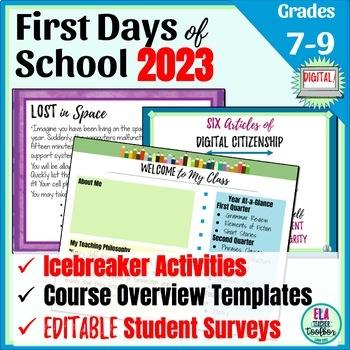 First Day of School Activities & Meet the Teacher Handout For Middle School!