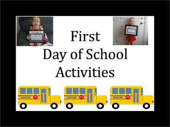 First Day of School Activities & Materials