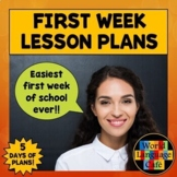 First Day of School Activities Spanish, Spanish First Day of School Activities