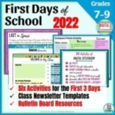First Day of School Activities for Middle School   Hybrid