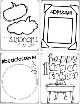 First Day of School Activity-First Day Book