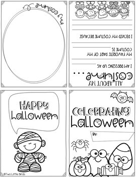 Halloween Writing Activities-Halloween Writing Prompts, Book Writing Activity