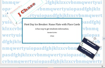 First Day of School Activity, Forms, and Editable Place Cards