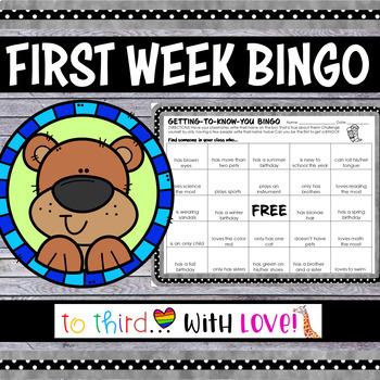 First Day of School Activity // Getting to Know You BINGO // freebie icebreaker