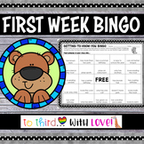 First Day of School Activity // Getting to Know You BINGO