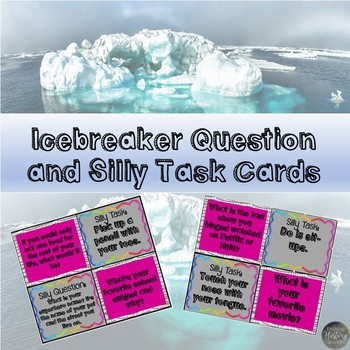 First Day of School Activity: Icebreaker Task Cards