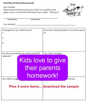 First Day of School Activity Kit for Grades 2-6