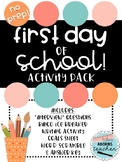 First Day of School Activity Pack!