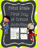 First Day of School Activity Pack---First Grade