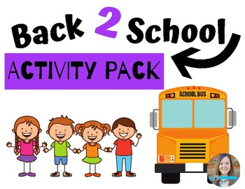 First Day of School Activity Packet