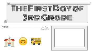 First Day of School Activity Packet 3rd grade