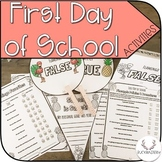 First Day of School Activity Set