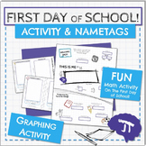 First Day of School Activity and Name Tag