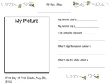First Day of School Activity for First Graders