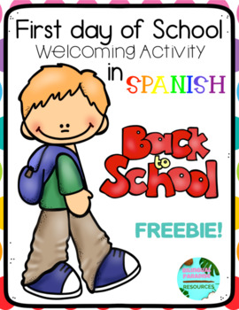 First Day of School Activity in Spanish