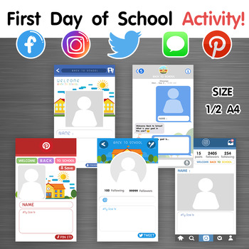 First Day of School Activity! via social media #Tell me your goal!