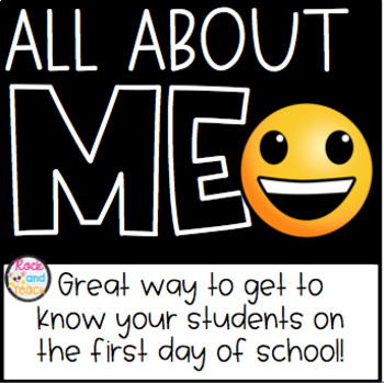First Day of School: All About Me