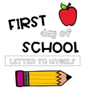 First Day of School All About Me Letter