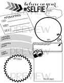 First Day of School: All About Me Selfie Worksheet