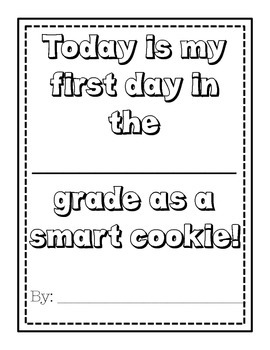 First Day of School- All About this Smart Cookie