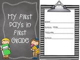 First Day of School Assessment and Book