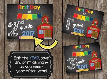 First Day of School BUNDLE - Preschool - PreK - Kindergarten - ALL Grades