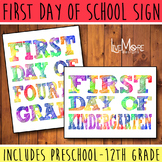First Day of School / Back To School Printable Sign INCLUD