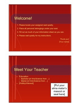 First Day of School / Back to School Lesson Plan