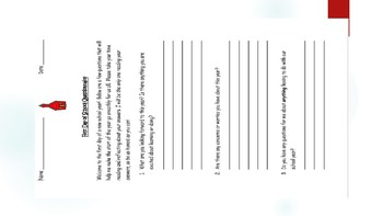 Back to School Questionnaire and slides
