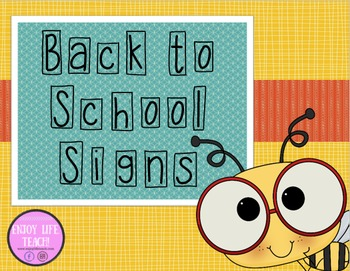 First Day of School Bee Signs