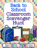 Back to School for Middle School: Classroom Scavenger Hunt