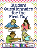 First Day of School Student Profile / Questionnaire Form