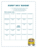 First Day of School Bingo