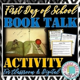"""First Day of School """"Book Talk"""" Activity for ELA"""