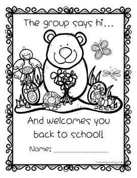 First Day of School Buddies Activity Packet
