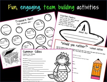 First Day of School Bundle - Team Building - Positive Classroom Culture