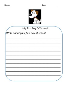 First Day of School Bundle Dog Theme