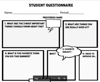 First Day of School Bundle (Presentation & Questionnaires)