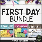 First Day of School Activities | Printables | Google Slides | Distance Learning