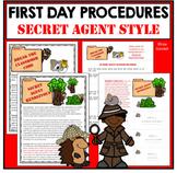 First Day Activities Learn Class and School Procedures SECRET AGENT DETECTIVE