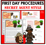 First Day of School Learn Class and School Procedures SECRET AGENT DETECTIVE