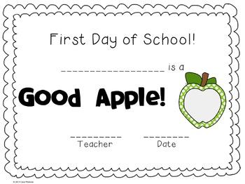 First Day of School Certificate {FREEBIE}